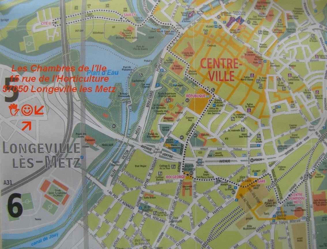Chambres d 'hotes à Metz, hébergement, Les chambres de l'Ile.
